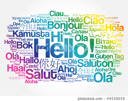 No matter the language, Hello is always friendly
